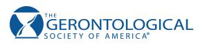 Logo for Gerontological Society of America